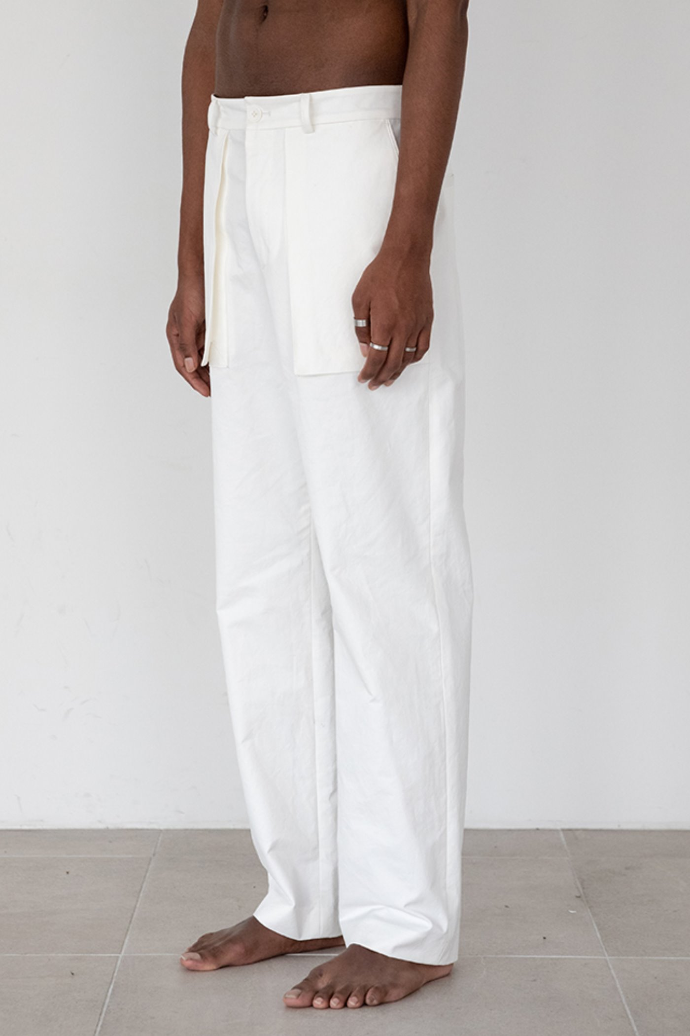 Solid pocket pants (White) #C7SWpt-105 [PRE-ORDER]
