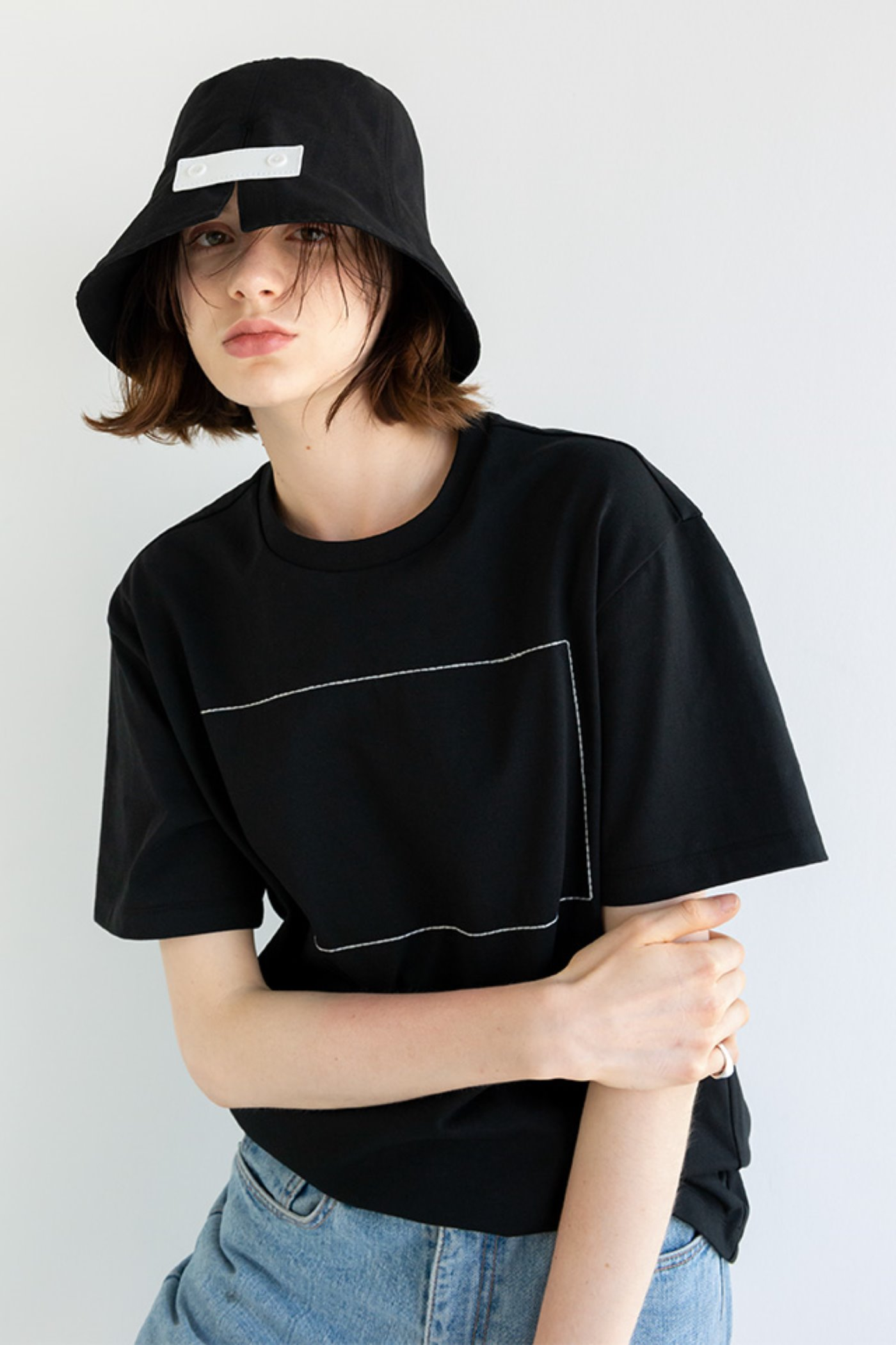 Signature bucket hat (Black)  [Unisex]