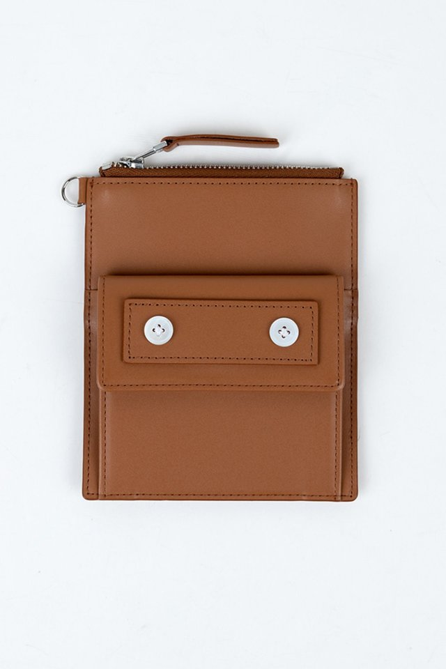 Seoul metro wallet (Brown)  [Unisex]