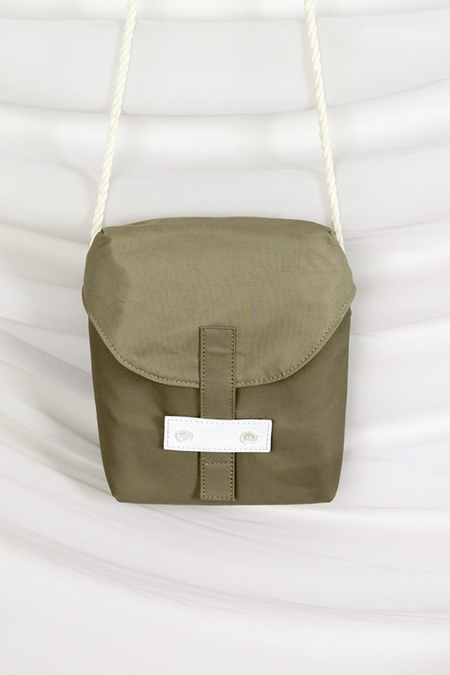 Rope cross bag (Khaki)  [Unisex]