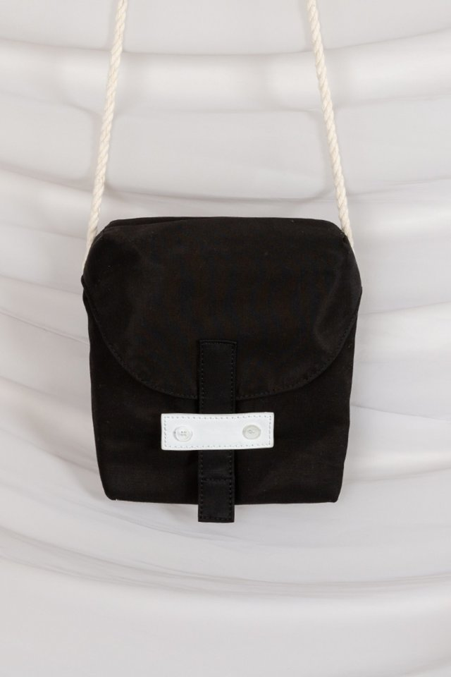 Rope cross bag (Black)  [Unisex]