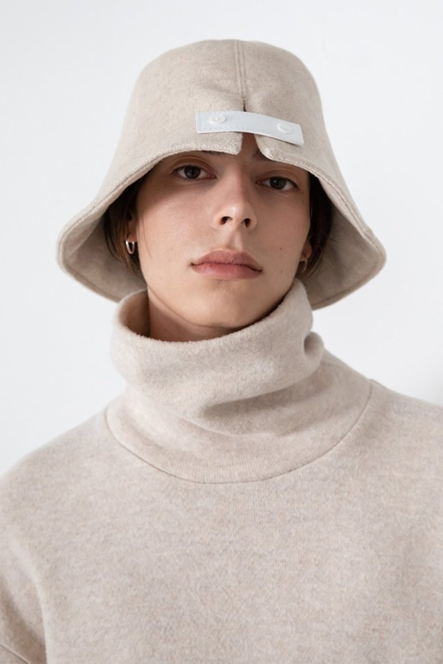 Original wool bucket hat (Beige)  [Unisex]
