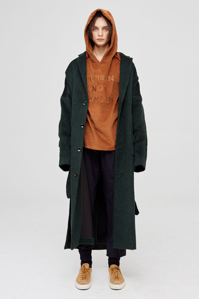 [2차 재입고 완료]Alpaca long coat (Deep green) #C7S7Wco-202