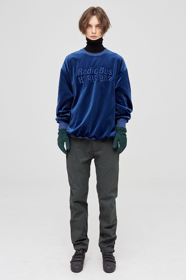 Velour sweat shirt (Blue) #C7S7Wts-007