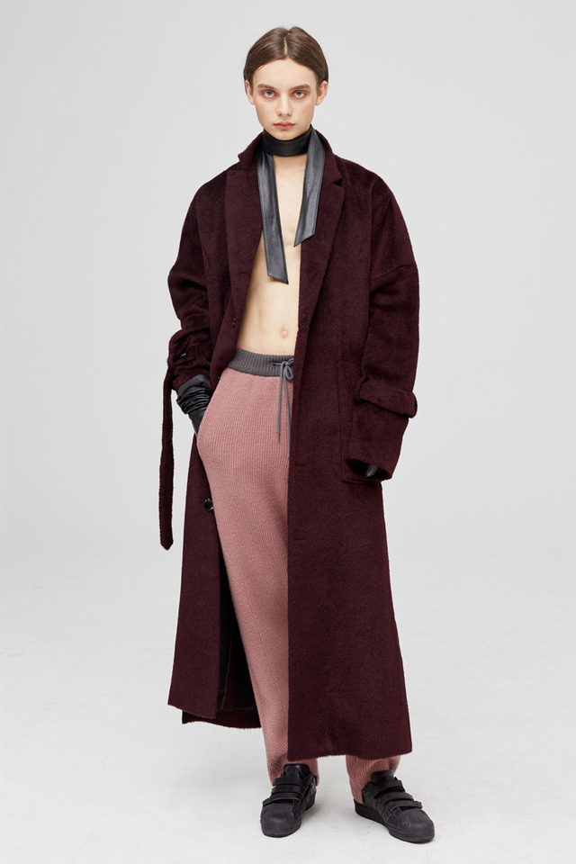 [2차 재입고 완료]Alpaca long coat (Burgundy) #C7S7Wco-202 [Thank you]