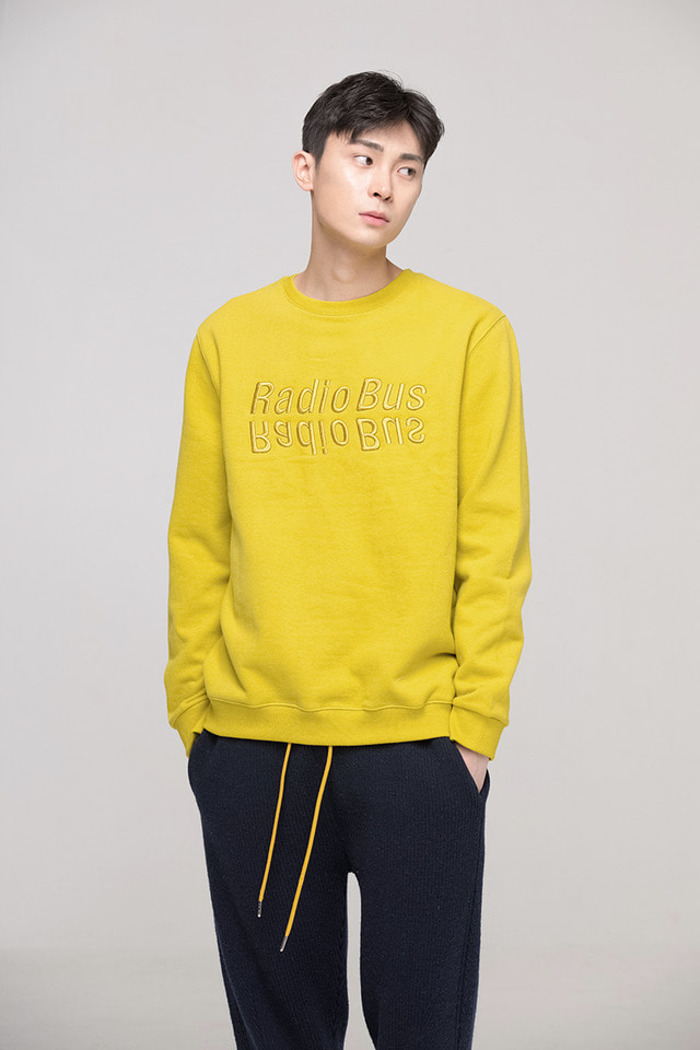 Radio bus sweat shirt (Mustard) #C7S7Wts-020