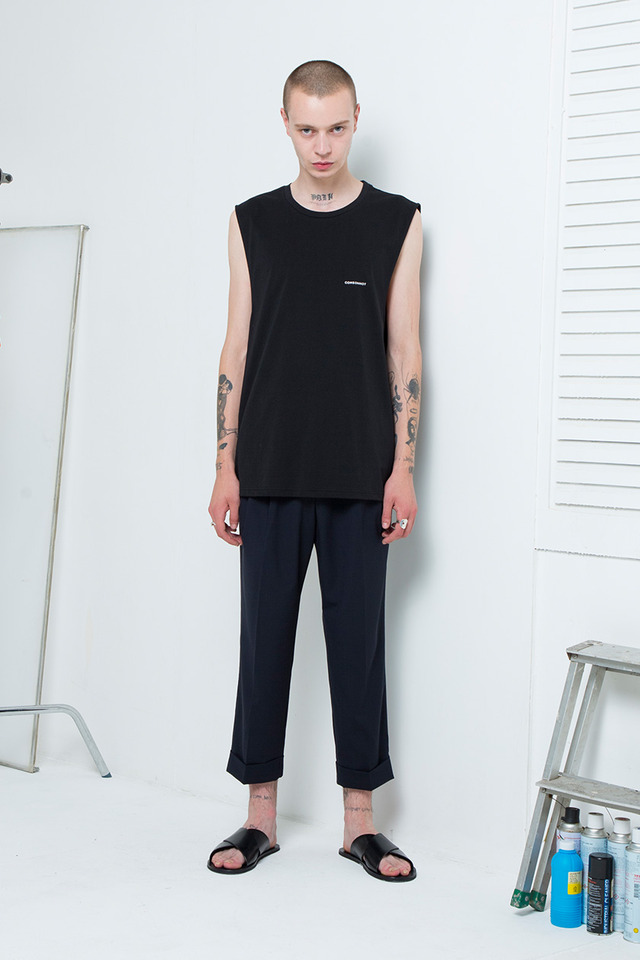 Basic logo sleeveless (Black) #C7S7Mns-022