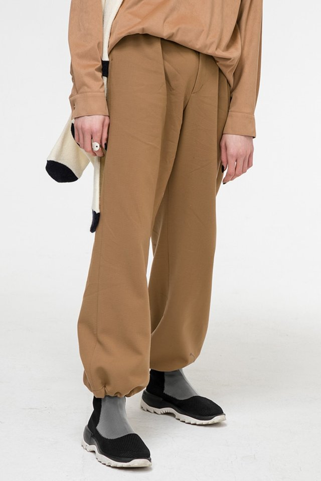 Wide banding pants (Brown) #C7S7Wpt-103