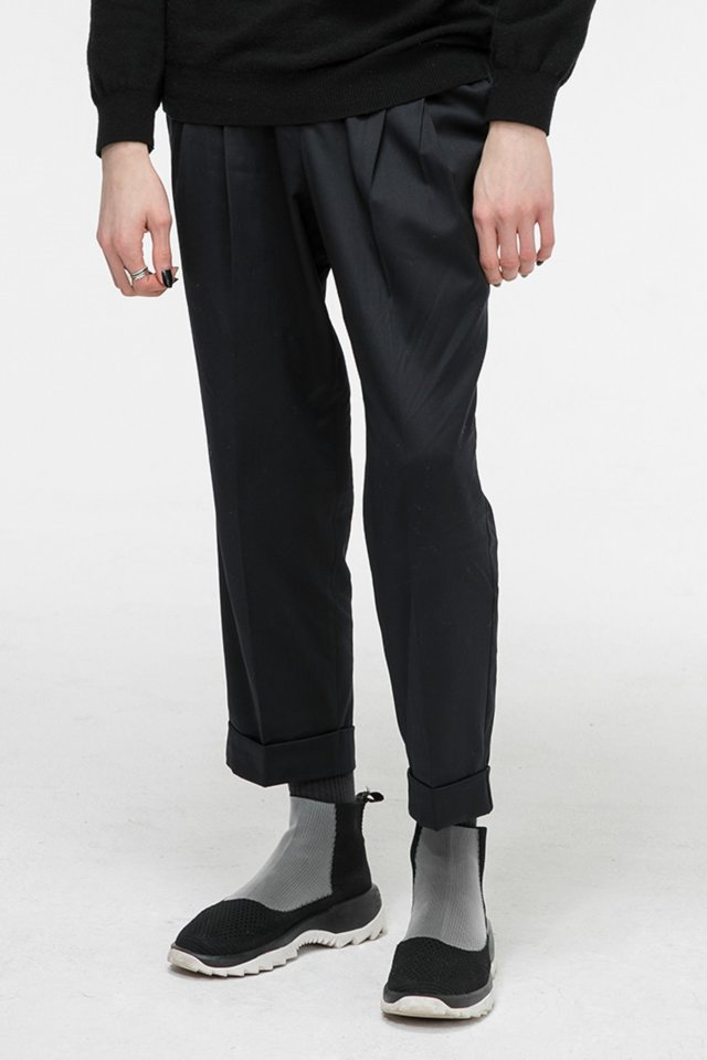 Wool crop pants (Black) #C7S7Wpt-104
