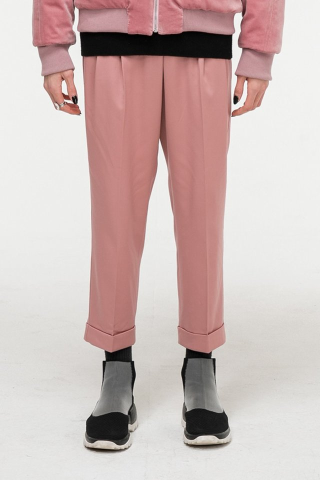 Wool crop pants (Indi pink) #C7S7Wpt-104