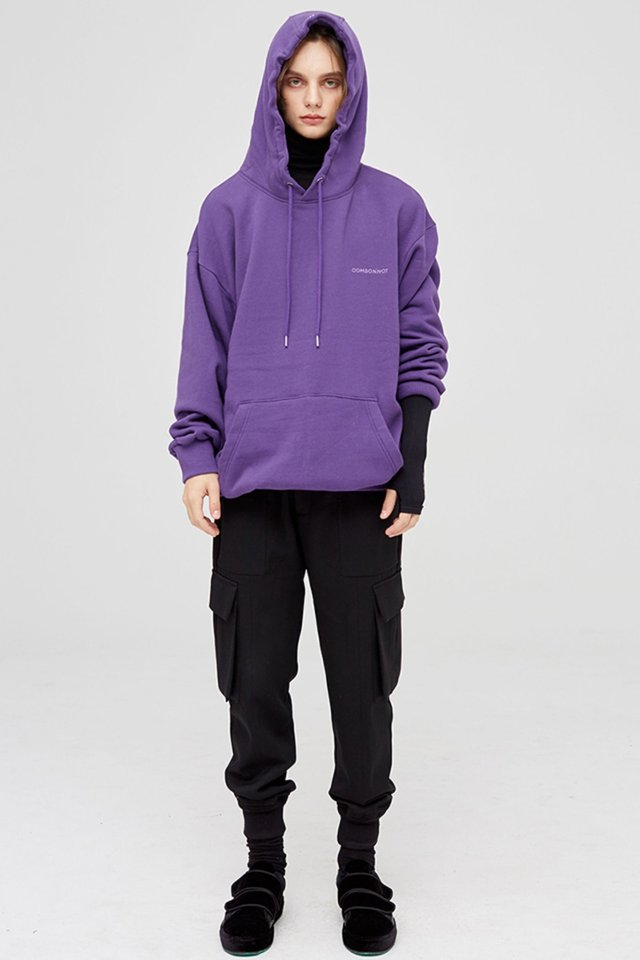 Basic logo over fit hoody (Purple) #C7S7Wts-017