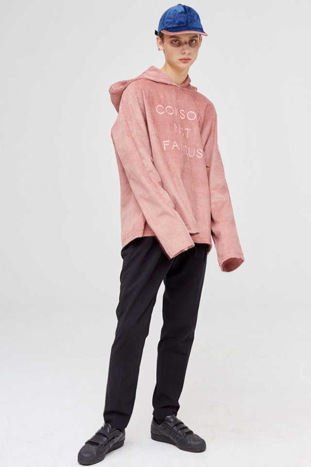 Corduroy hoody (Indi pink) #C7S7Wts-013