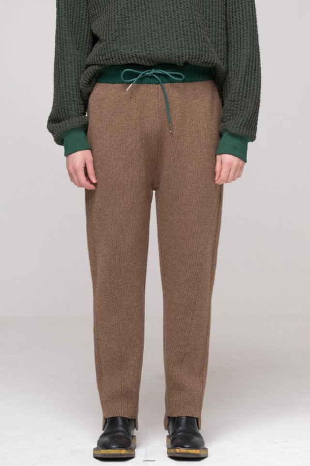 Knit pants (Brown) #C7S7Wpt-101