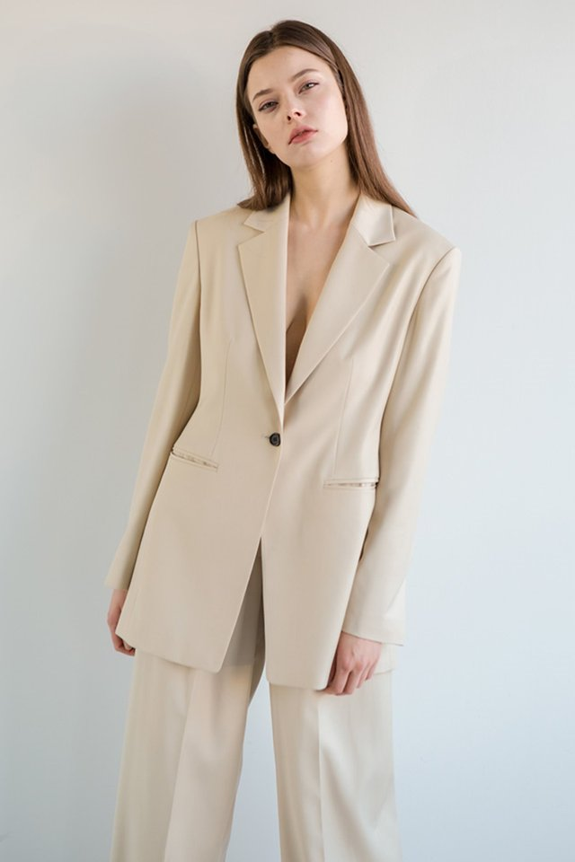 One button jacket (Cream)  [Woman]
