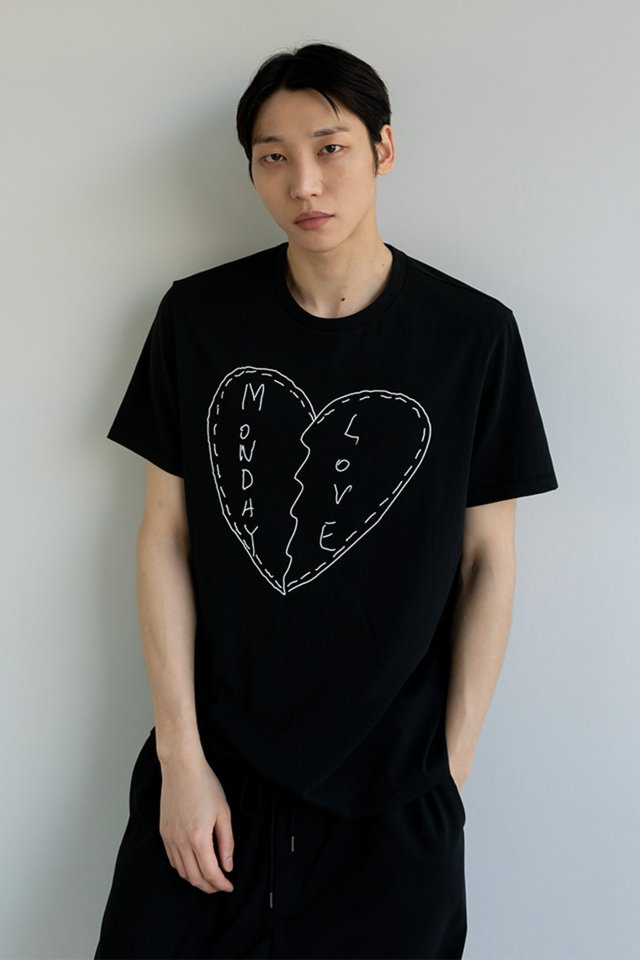 Sketch t-shirt (Black)  [Unisex]