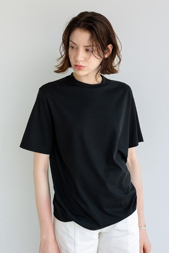 Silk cutting t-shirt (Black)  [Unisex]